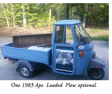 Ape In America Vespa Based Three Wheeled Italian Pickup
