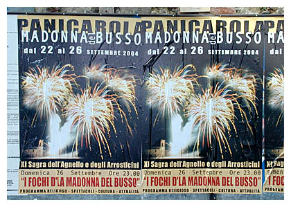 Italian fireworks festival in central Umbria