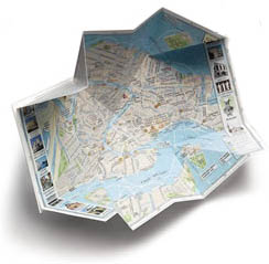 pop up map of Florence, Italy