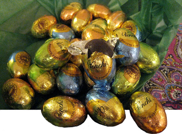 easter eggs of Italy. chocolate holiday fun