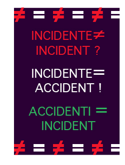 incident3 incident in english versus incidente in italian