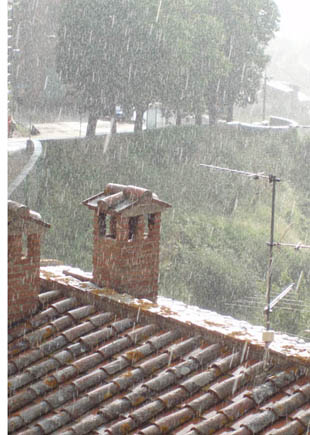 umbrian rain. yes even in sunny italy some rain must fall.